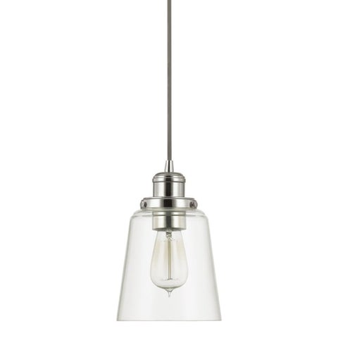 Urban Theme Polished Nickel with Clear Glass 1-light Mini Pendant - N/A