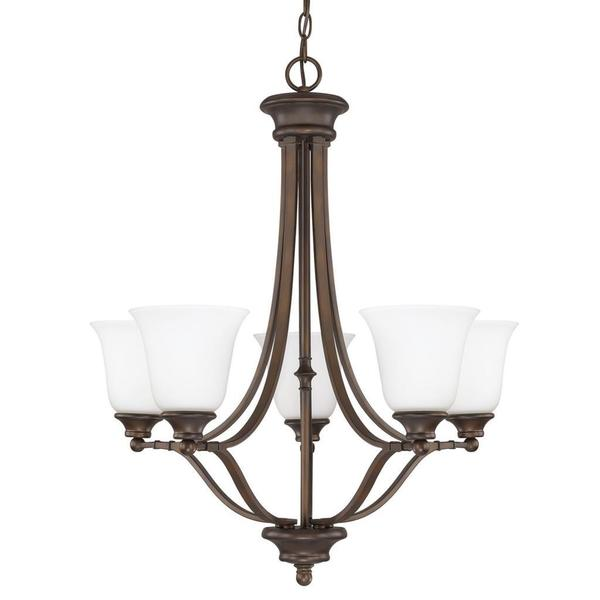 Capital Lighting Belmont Collection 5-light Burnished Bronze Chandelier