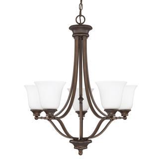 Capital Lighting Belmont Collection 5-light Burnished Bronze Chandelier