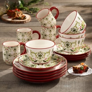 American Atelier Bargello 16-piece Dinnerware Set & Holiday Dinnerware | Find Great Kitchen u0026 Dining Deals Shopping at ...