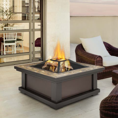 Real Flame Alderwood Outdoor Fire Pit
