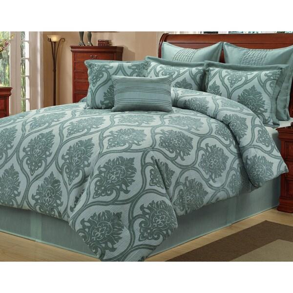 Shop Carlyle Sea Foam 8 Piece Comforter Set Free