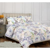 Tribeca Living Paisley Garden 3-piece Duvet Cover Set