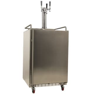 EdgeStar Full-size Triple Tap Stainless Steel Outdoor Kegerator Sold by Living Direct