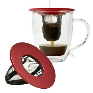 Epoca Primula Coffee Brew Buddy Single Cup Red Coffee Maker