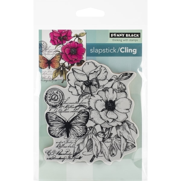 Penny Black Cling Rubber Stamp 4inx5.25in Sheet  Botanical Notes
