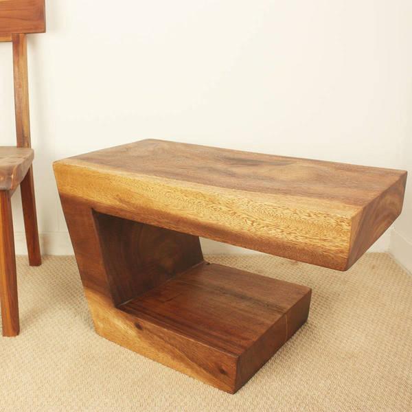 Large Vintage Monkey Pod Wood Slab Coffee Table: Shop Handmade Walnut Oil Monkey Pod Wood Balance Table
