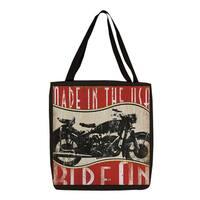 Vintage Motorcycle Print Tote