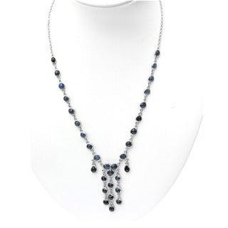 De Buman Sterling Silver Natural Gemstone Necklace