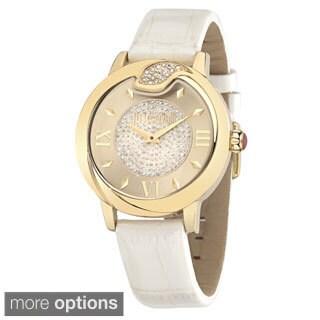 Just Cavalli Women's Leather Spire Quartz Watch