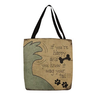 Wag Your Tail' Graphic Print Tote
