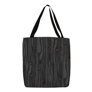 Thumbprintz Black Large Scale Wood Grain Tote