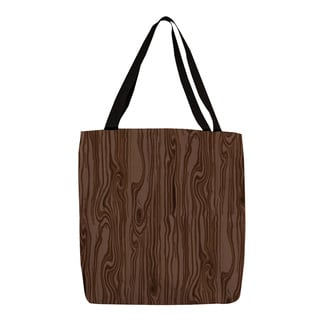 Thumbprintz Brown Large-scale Wood Grain Tote