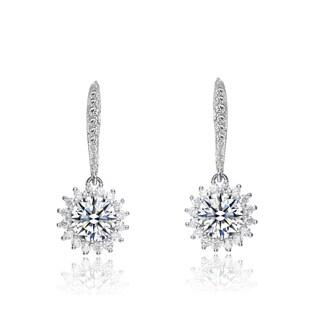 Collette Z Sterling Silver Cubic Zirconia Dangle Earrings