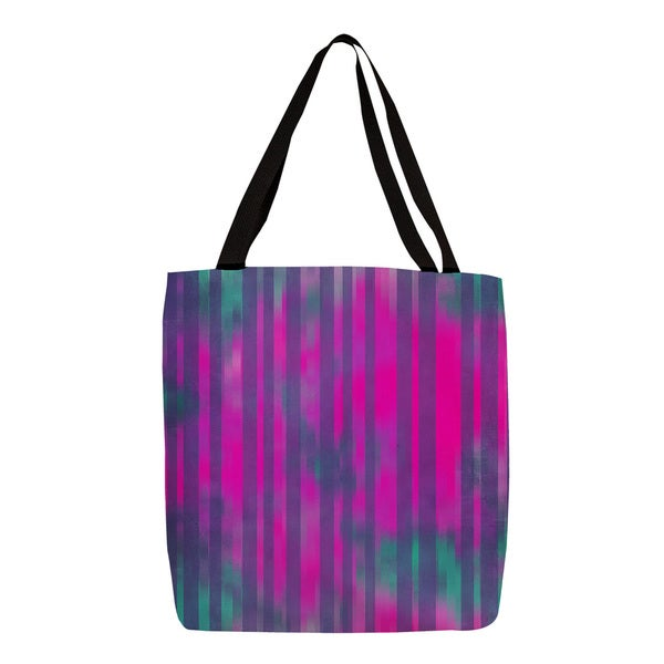 Pink and Turquoise Striped Tote