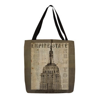 Thumbprintz Vintage NY Empire State Printed Tote