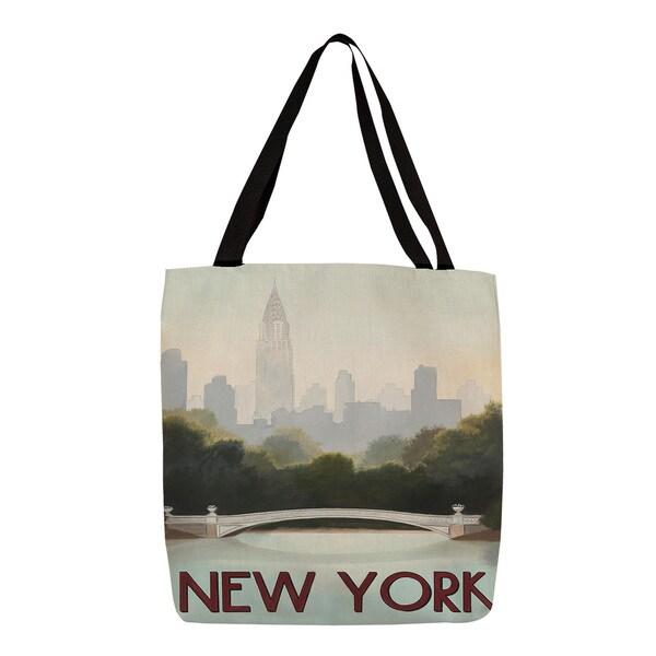 City Skyline New York Printed Tote