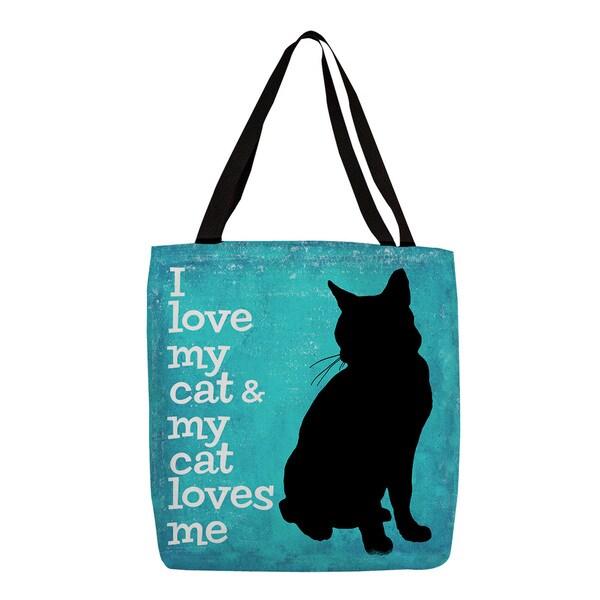 I Love My Cat' Printed Tote