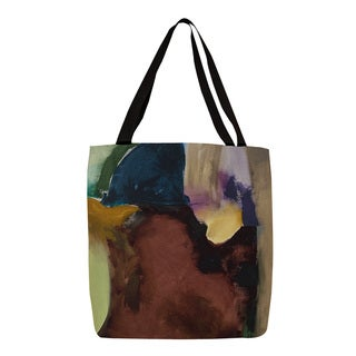 Obsession III' Abstract Watercolor Printed Tote