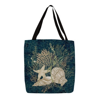 Thumbprintz Blue Sea Shell Vignette Printed Tote