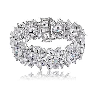 Collette Z Sterling Silver Cubic Zirconia Elegant Cuff Bracelet|https://ak1.ostkcdn.com/images/products/9370408/P16561647.jpg?impolicy=medium