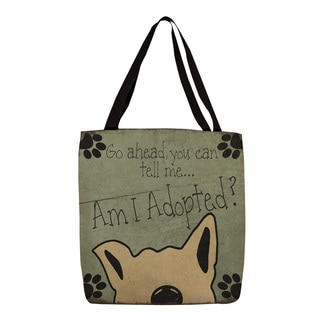 Thumbprintz 'Am I Adopted?' Dog Print Tote
