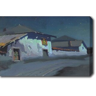 Charles Rollo Peters 'Adobe on a Hill' Oil on Canvas Art