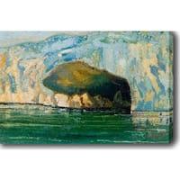Glacier' Oil on Canvas Art - Multi