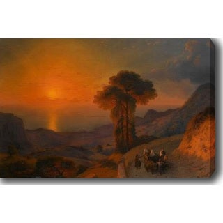 Sunset' Oil on Canvas Art