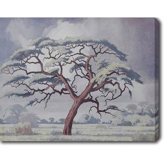 Tree Covered in Snow' Oil on Canvas Art