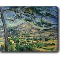 Paul Cezanne 'The Mont Sainte-Victoire' Oil on Canvas Art - Multi