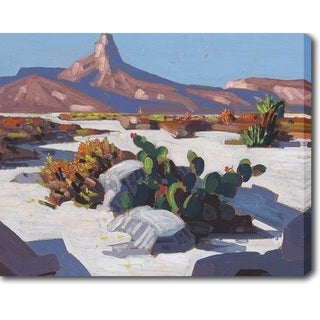 Desert and The Mountain' Oil on Canvas Art - Multi