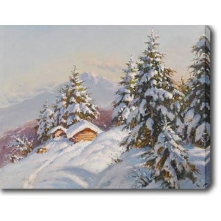 Snow Mountain' Oil on Canvas Art