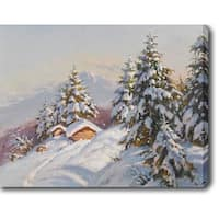 Snow Mountain' Oil on Canvas Art - Multi