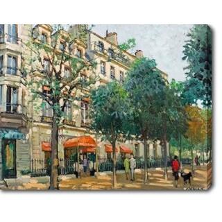The City' Oil on Canvas Art - Multi