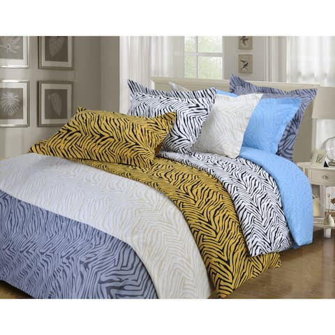 Superior Wrinkle Resistant Animal Print Microfiber Duvet Cover Set