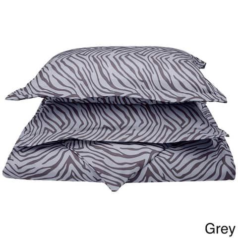 Superior Wrinkle Resistant Animal Print Microfiber Duvet Cover Set