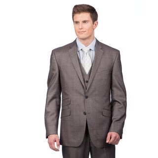 Kenneth Cole Crème Label Men's Slim Fit Grey Suit Separate Coat