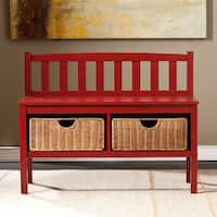 Laurel Creek Martin Red Bench with Storage Baskets