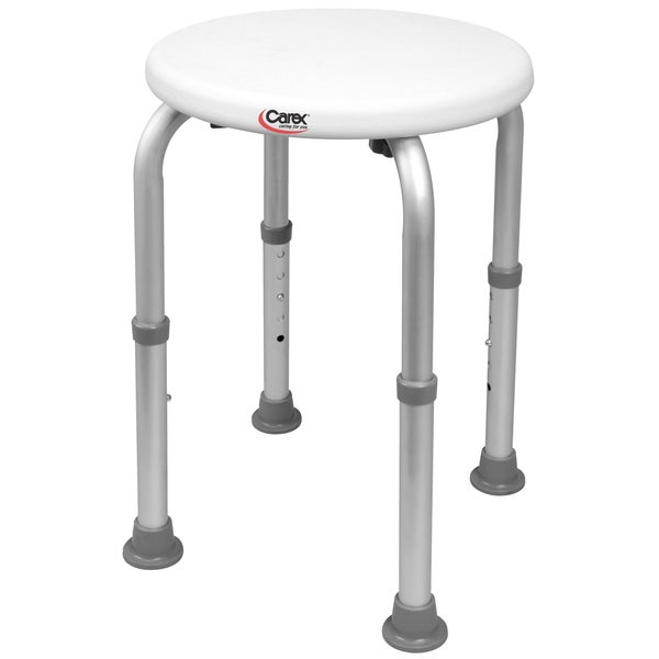Shop Carex Compact Round Shower Stool Free Shipping On Orders Over