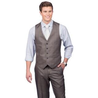 Kenneth Cole Crème Label Men's Slim Fit Grey Suit Separates Vest