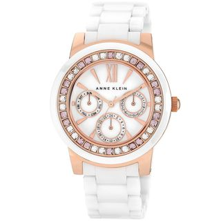 Shop Anne Klein Women S White Ceramic Watch Free