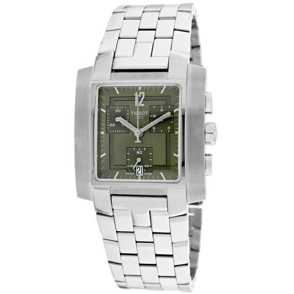 0b0c72c9947 Shop Tissot Men s T60.1.587.72 T-Trend Square Silvertone Bracelet Watch -  Free Shipping Today - Overstock - 9370955