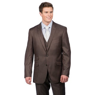 Kenneth Cole Crème Label Men's Slim Fit Brown Suit Separate Coat