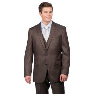Kenneth Cole Crème Label Men's Slim Fit Brown Suit Separate Coat|https://ak1.ostkcdn.com/images/products/9370958/P16562122.jpg?impolicy=medium