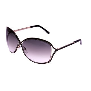 Tom Ford Women's 'Rickie FT0179 01B' Rose/ Gold/ Black Crossover Sunglasses