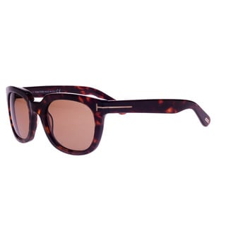 Tom Ford Women's 'Campbell FT0198 56J' Tortoise Thick Sunglasses