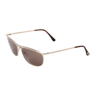 Tom Ford Unisex 'Tate TF287 28J' Gold Aviator Sunglasses