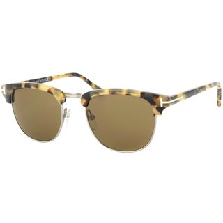 Tom Ford Unisex 'Henry TF248 55J' Tortoise Aviator Sunglasses