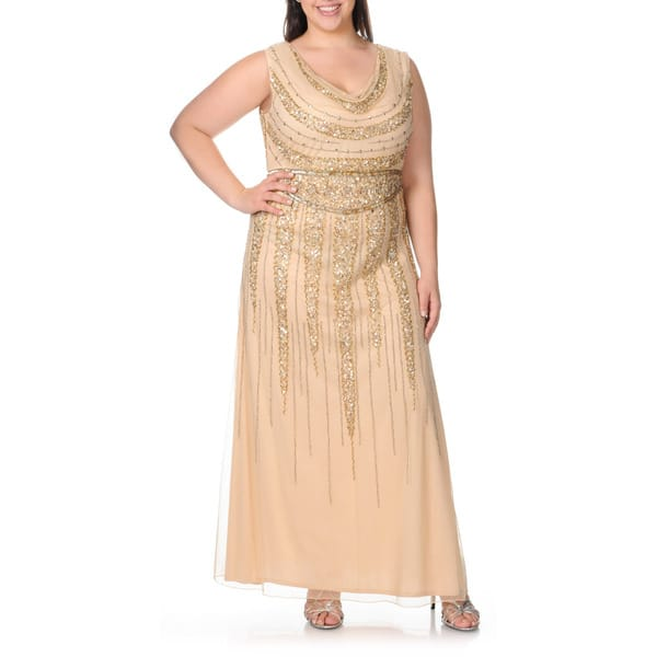 Shop Patra Women\'s Plus Size Cowl Neck Sequin Embellished ...